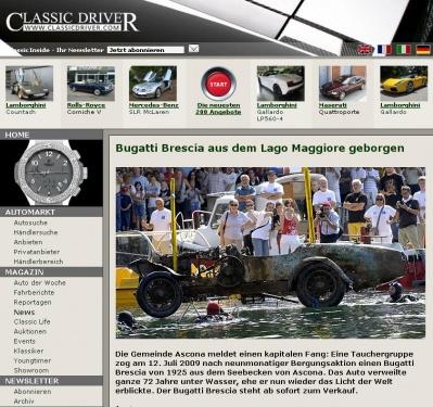 Bugatti Brescia aus dem Lago Maggiore geborgen - Classic Driver - MAGAZIN 1