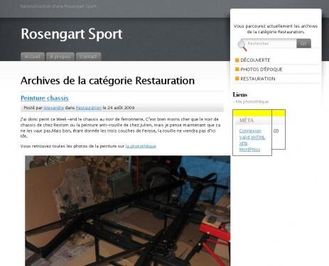 Restauration Rosengart Sport