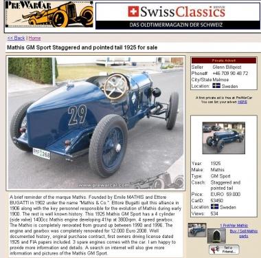 Mathis GM Sport 1925