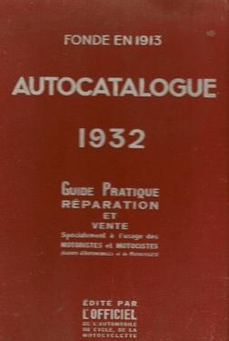 Autocatalogue 1932
