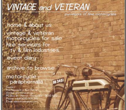 Vintage and Veteran
