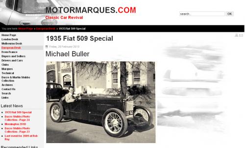 Motormarques.com - 1935 Fiat 509 Special
