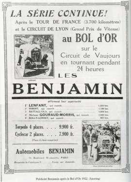 Benjmain Anzeige 1922