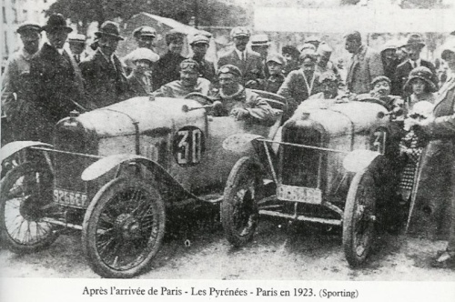 Paris-Les Pyrenees-Paris 1923 finisht