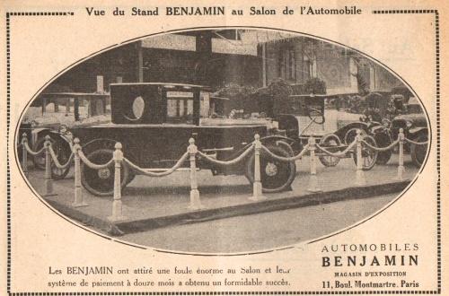 Benjamin 1922 Automobilsalon Typ 5HP Begatelle
