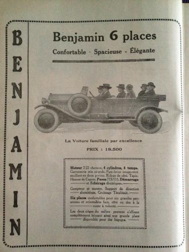 Benjamin 1925 6 Sitzer