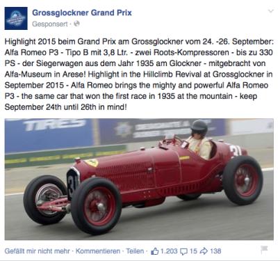 Alfa P3 Rennwagen