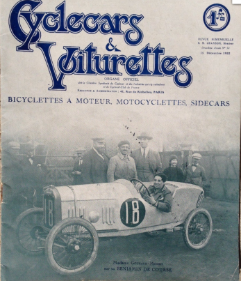 Cyclecars & Voiturettes Cover 1922