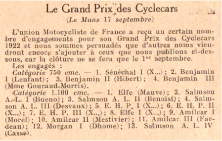 Moto Revue 1922 No. 107 Seite 397