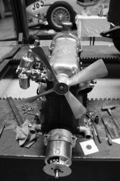 Fiat 509 Motor mit Doppelvergaser