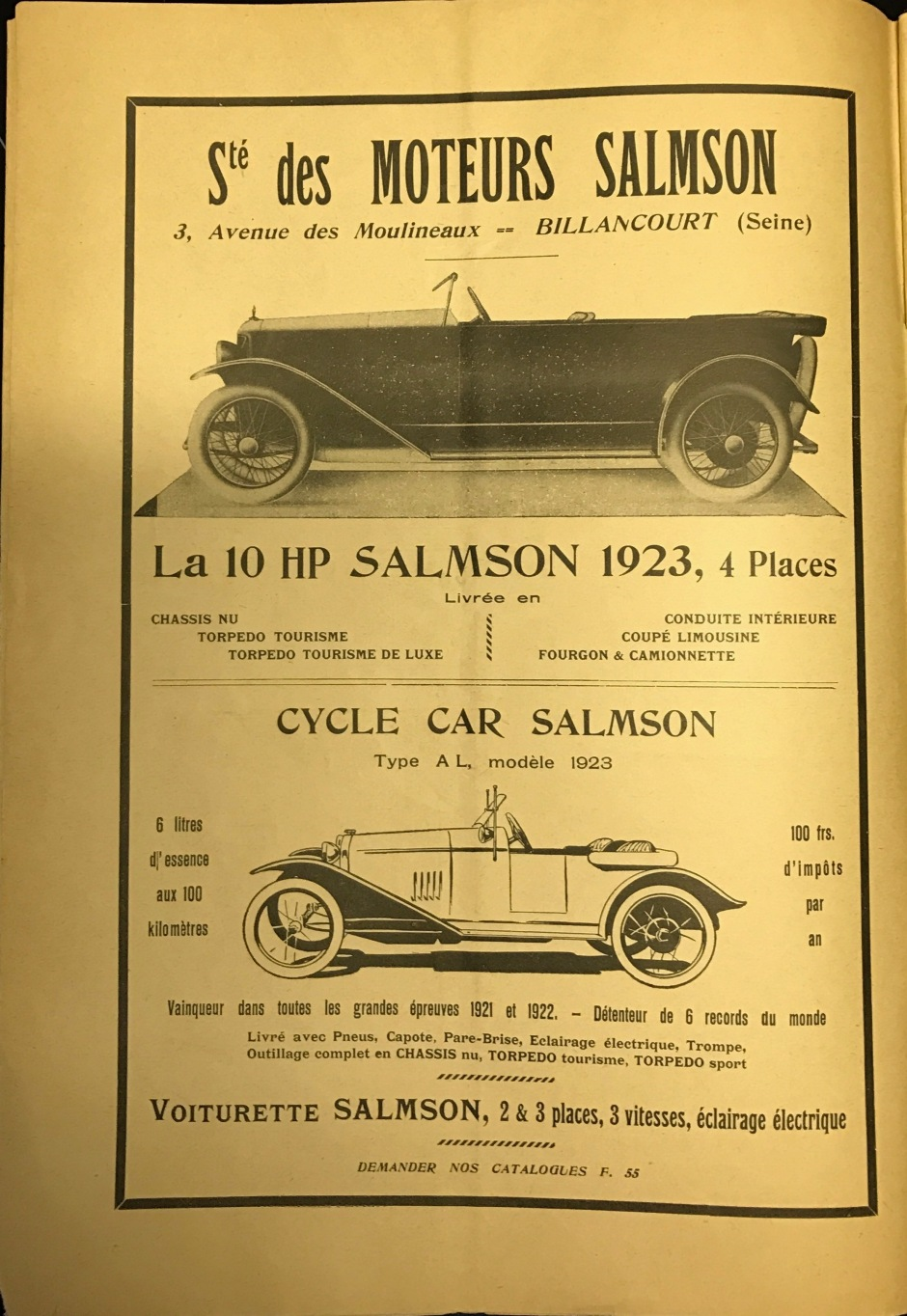 Le Moteuer Chauffeur Francais April 1923