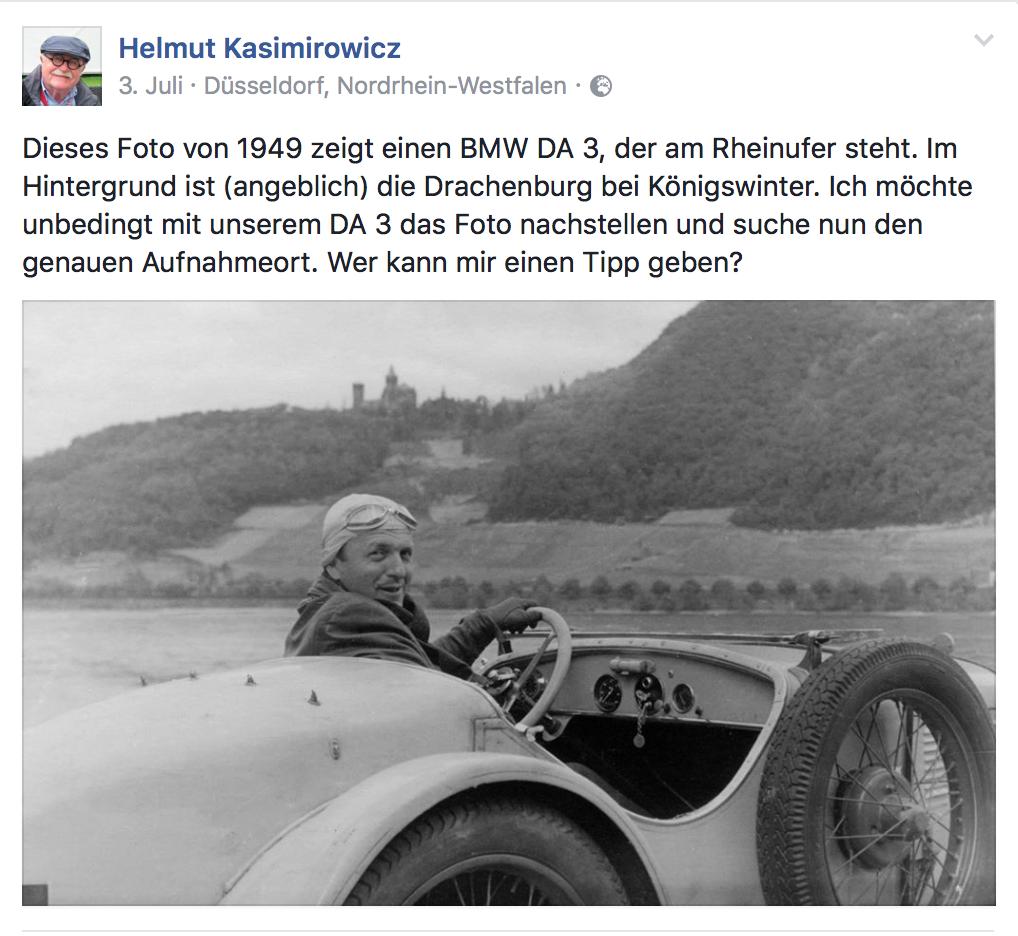 Helmuts Aufruf auf Facebook