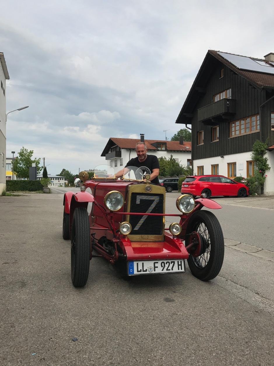 Ausfahrt mit dem Fiat