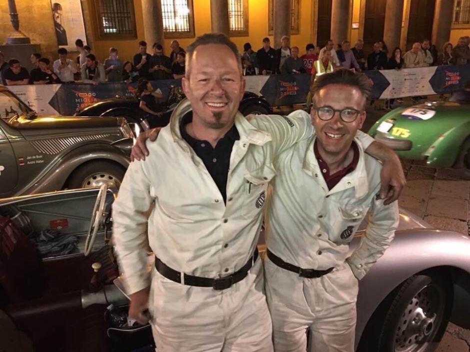 uli und Peter bei der Mille Miglia