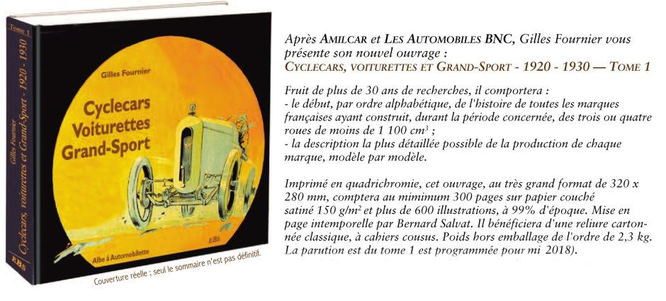 Gilles Fournie - Cyclecar, Voiturettes, Grand Sport