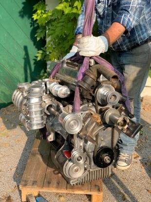Riley 2,5 Liter Motor mit Kompressor
