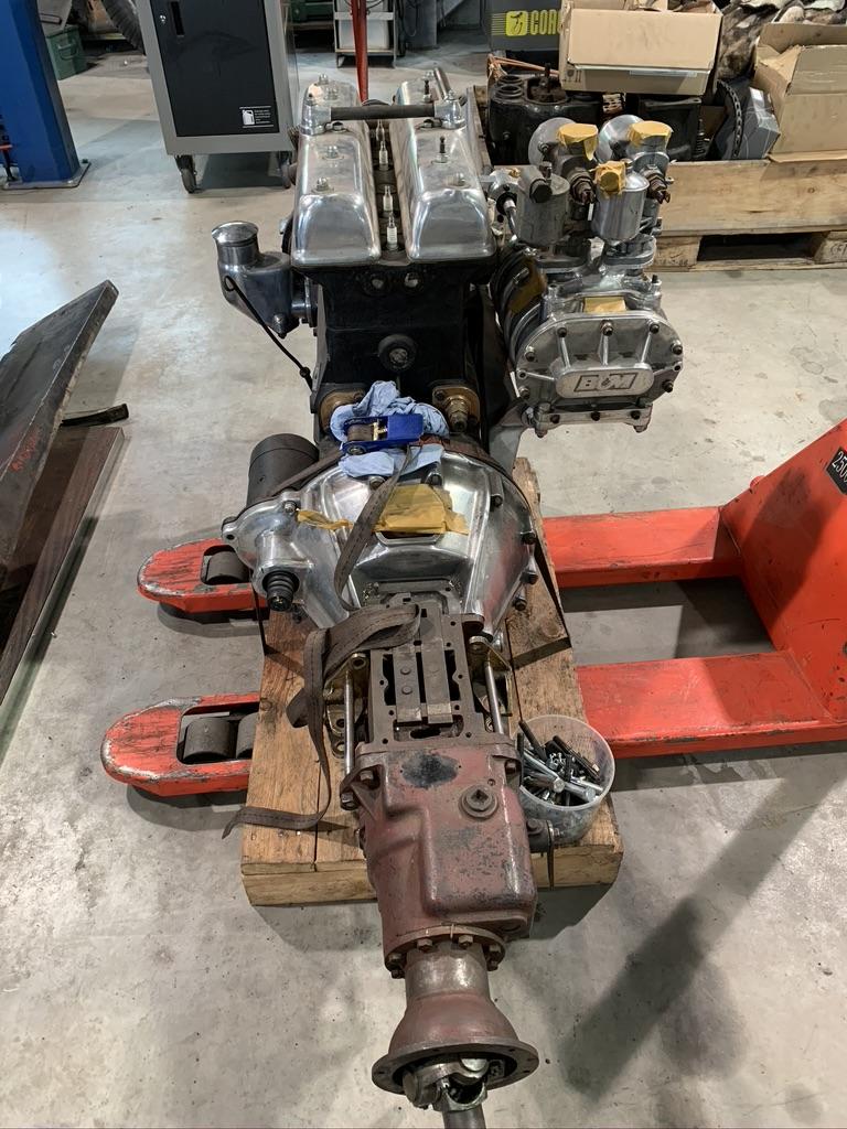 Riley Big 4 Motor mit Vorwahlgetriebe